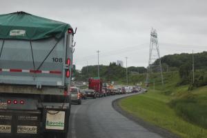 Quebec traffic jam