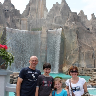 Articficial falls at Canada's wonderland