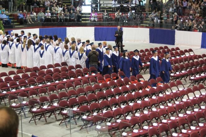 Graduation ceremony begins...
