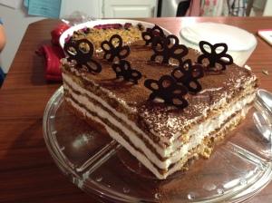 Tiramisu cake - done!