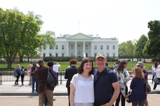 Us outside the White House