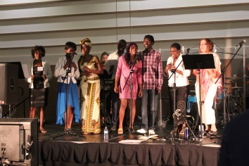 Our Congolese friends helping to lead worship